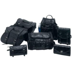7-Piece Rock Design Genuine Buffalo Leather Motorcycle Luggage Set