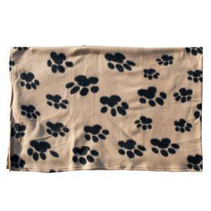 Fleece Paw Print Pet Blanket