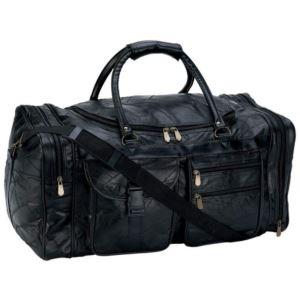 "Italian Stone Design Genuine Leather 25"" Tote Bag"