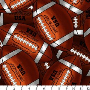 Packed Footballs Fleece Throw