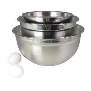3PC Stainless Steel German Bowls