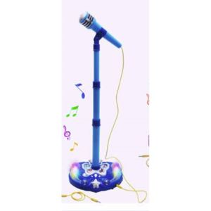 Battery Operated Microphone w/Stand - Blue