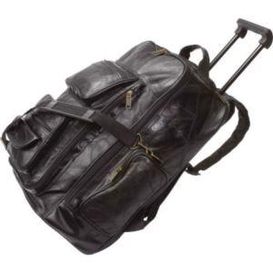 Italian Stone Design Genuine Leather Trolley/Backpack