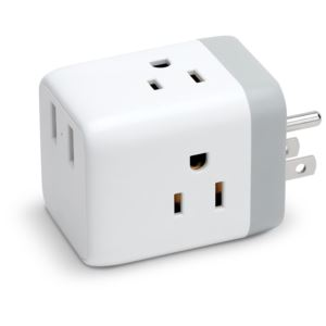AC Cube with 3-AC & 2-USB Sockets