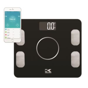 Bluetooth Black Electronic Body Fat Scale with Body Analysis