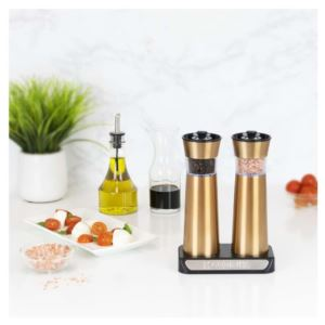 Rechargeable Gravity Copper Salt and Pepper Grinder Set