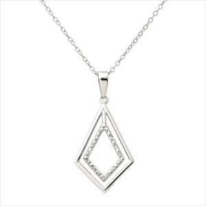 Diamond & Sterling Silver Necklace