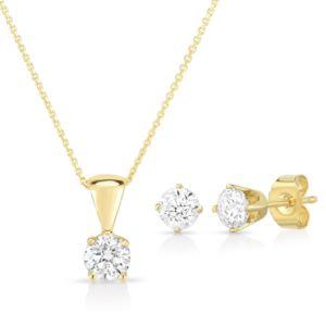 Diamond Earring & Necklace set