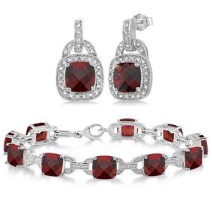 Garnet Bracelet & Earring Set