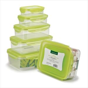 10Pc Rectangular Locking Lid Storage Set