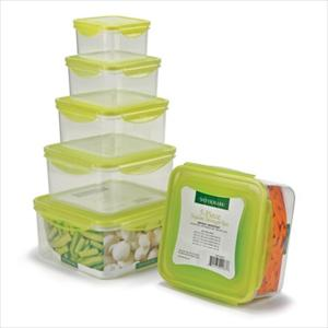 10-Pc Square Locking Lid Storage Set
