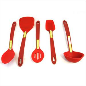 5-Pc Silicone Tool Set (Red)