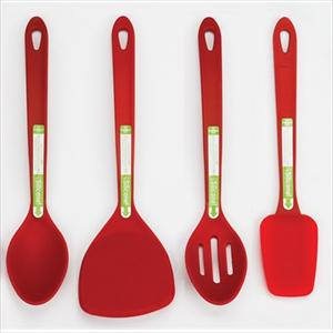 4-Pc Silicone Tool Set (Red)