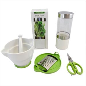 Herb Prep and Store Set with Mortar