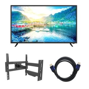 40 - Inch 4K UHD Dled TV with 12 Ft. HDMI Cable and TV Mount