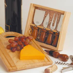 8-Pc Wine & Cheese Set