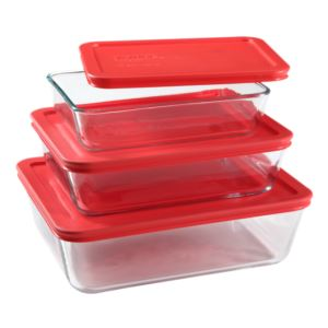 Simply Store 6pc Rectangular Storage Value Pack Red