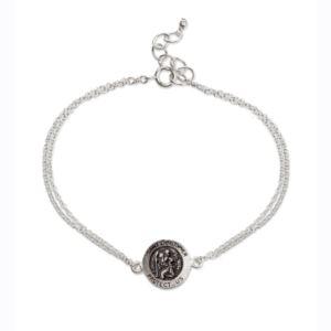 St. Christopher Chain Sterling Silver Bracelet