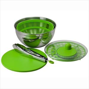 3 Qt. Stainless Steel Salad Spinner