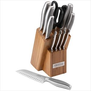 12-Pc Stainless Cutlery Set w/ Block