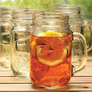 Mason Jar Glasses Set of 4