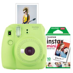 Instax Mini 9 Instant Camera w/ 10 Count Film Lime Green
