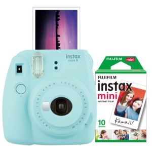 Instax Mini 9 Instant Camera w/ 10 Count Film Ice Blue