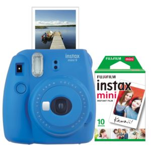 Instax Mini 9 Instant Camera w/ 10 Count Film Cobalt Blue
