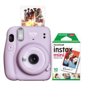 Instax Mini 11 Instant Camera w/ 10 Count Film Lilac Purple