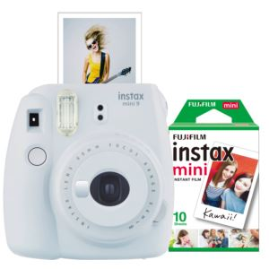 Instax Mini 9 Instant Camera w/ 10 Count Film White