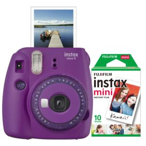 Instax Mini 9 Instant Camera w/ 10 Count Film Purple