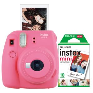 Instax Mini 9 Instant Camera w/ 10 Count Film Flamingo Pink