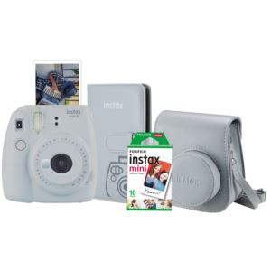 Instax Mini 9 Super Bundle Smokey White