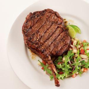 4 (22oz) Frenched Bone In Ribeye Steaks