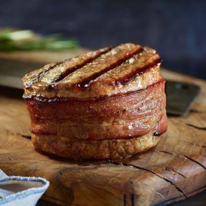 6 (8oz) Super Trimmed Filet Mignon w/ Bacon