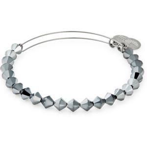 Lunar Beaded Bracelet - Midnight Silver Finish