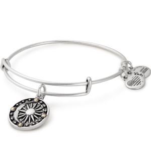 Cosmic Balance Charm Bangle - Rafaelian Silver Finish