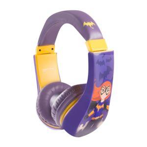 Batgirl Kid Friendly Volume Limiting Headphones Ages 3-9 Years