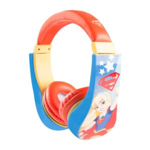 Supergirl Kid Friendly Volume Limiting Headphones Ages 3-9 Years