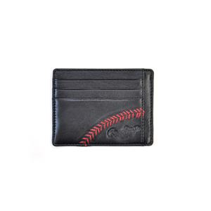 Baseball Stitch Black Card case