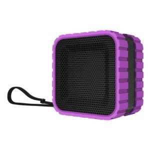 Waterproof Cube Bluetooth Speaker - Purple