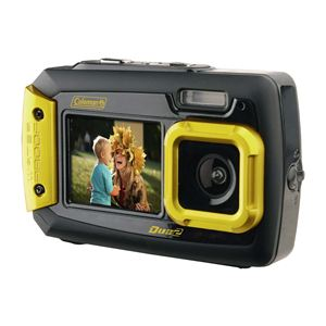 Coleman Duo2 Waterproof Dual Screen 20mp Digital Camera (Yellow)