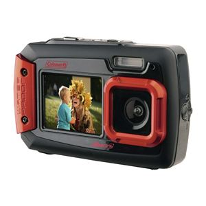 Coleman Duo2 Waterproof Dual Screen 20mp Digital Camera (Red)