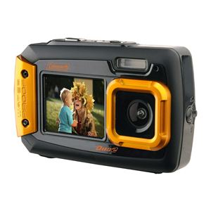 Coleman Duo2 Waterproof Dual Screen 20mp Digital Camera (orange)