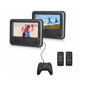 Twin Mobile DVD Players w/ Gamepad