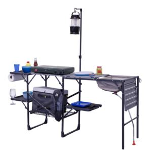 Portable Outdoor Master Cook Station - (Black and Chrome)
