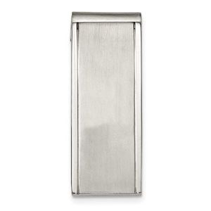 Stainless Steel Brushed and Polished Money Clip