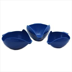 3PC BOWL SET, 6-8-12 CUP (BLUE WILLOW)