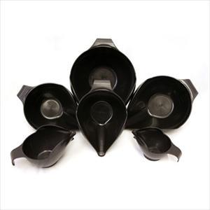 6PC BOWL SET, 1-2-4-6-8-12 CUP (CAVIAR)
