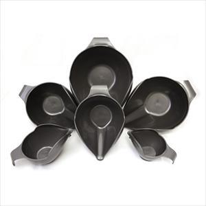 6PC BOWL SET, 1-2-4-6-8-12 CUP (DARK PEWTER)